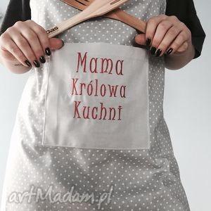 Fartuch Mama Królowa Kuchni - ,dzień-mamy,mama,fartuch,haft,fartuszek,