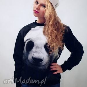 Bluza print 3d z nadrukiem panda bluzy red master clothes print