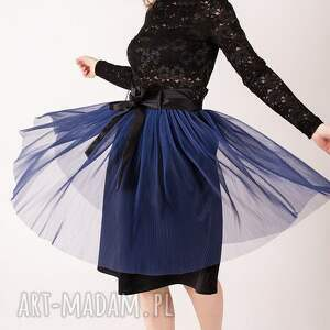 tiulowa plisowana spódnica s, plisowana, chabrowy, plisy, karnawał, warstwowa