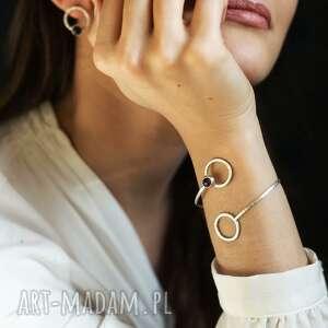 bransoletka srebrna z naturalnym ametystem, biżuteria
