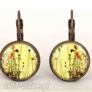 polne kwiaty - małe kolczyki wiszące, kwiatowa, kobiece
