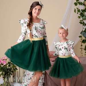 Komplet LEA dla mamy i córki, dlamamyicorki, tiulowespodniczki, bluzkikwiaty