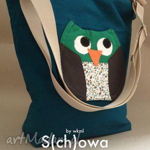 S(ch)owa na zielono, sowa, torba, aplikacja, a4, zakupowa