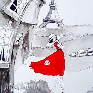obrazy w paryżu należy spacerować wolno akwarela artystki plastyka adriany laube