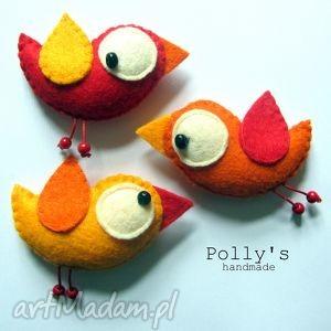 Ptaszki - komplet przypinek dla dziecka polly27 broszki