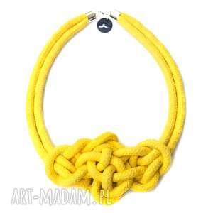 hand made naszyjniki misterny węzeł yellow