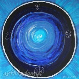obrazy obraz medytacyjny - strażnik snów - akrylowy - akryl na płótnie