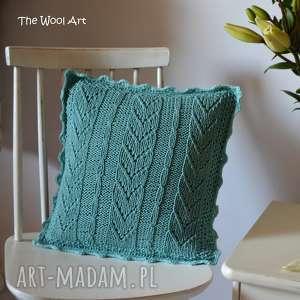 dekoracyjna poszewka na poduszkę, poszewka, poduszka, drutach, bawełniana