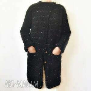 swetry prosty, elegancki sweter robiony na drutach /10/