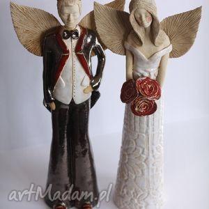 Para anielsko-diabelska, anioł, diabeł, ceramika, figurka