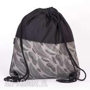 oryginalny prezent, worek piórka, plecak, worek, pióra, piórka plecaki
