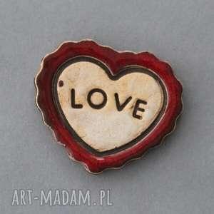 Prezent LOVE-MAGNES CERAMICZNY, walentynki, moc, miłość, serce,