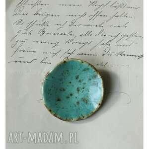 Broszka niebieska niecka broszki wylegarnia pomyslow ceramika,