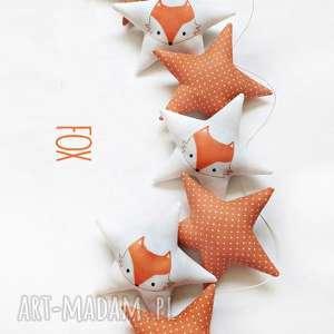 fox - girlanda, gwiazdki, lis, lisek, pokoik dziecka