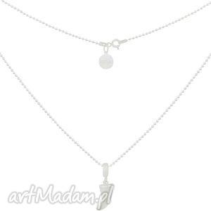 srebrny naszyjnik modowy łańcuszek z kłem rock - srebrne