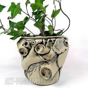 Osłonka ceramiczna - serce ceramika polepione osłonka, doniczka