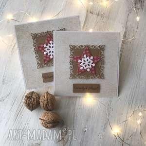 ręcznie wykonane prezenty świąteczne komplet 8 kartek na boże narodzenie