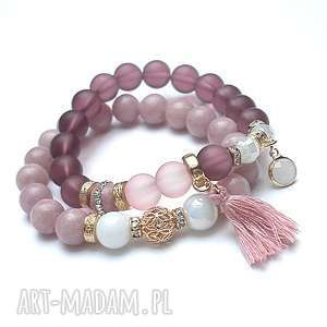 handmade bransoletki antique pink vol. 9 - boho /02.01.18/