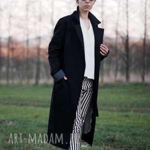 handmade płaszcze czarny z szopem
