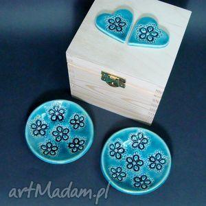 ręcznie wykonane ceramika ceramiczne fusetki w pudełku na herbatę