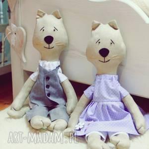 handmade zwierzaki para kotów w ubranku