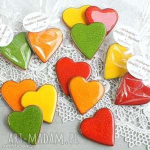 ślub kolorowe podziękowania, serce, ślub, wesele, magnes, upominki