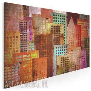 obraz na płótnie - budynki grunge 120x80 cm 52201, budynki, architektura