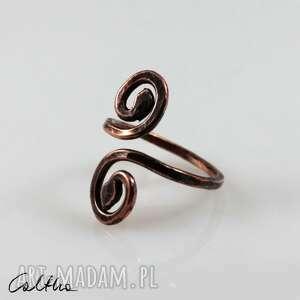 zawijas - miedziany pierścionek 190522-02, pierścionek, pierścień, obrączka