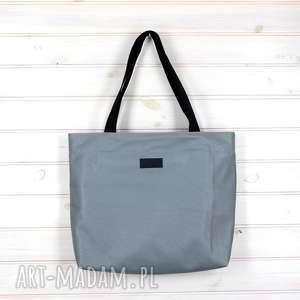 Prezent Amelia szara torebka pojemna shopperka skórzana, torebka, pojemna,