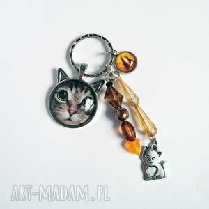 breloki breloczek - kot tygrysek, kotki, breloczek, do kluczy, kot, tygrysek