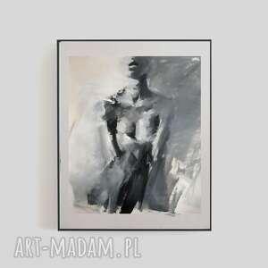 święta, obrazek kobieta, obraz do sypialni, grafika czarno biała
