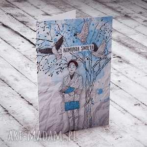I KOMUNIA ŚWIĘTA... KARTECZKA - WZÓR 3, komunia, kartki, życzenia, chłopiec