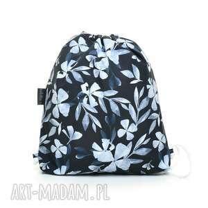 Plecak worek przedszkolaka blue flowers dla dziecka pracownia