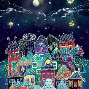 baśniowa noc - puzzle magnetyczne, dekoracje, lodówka, puzzle, magnesy