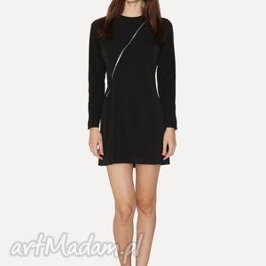sukienki do it yourself, sukienka, dopasowana, suwaki, czarna, świąteczny prezent