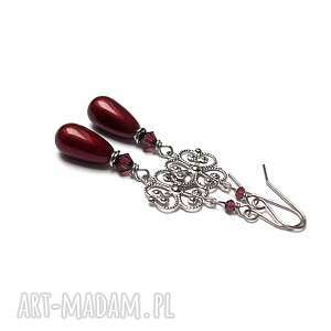ki ka pracownia alloys collection/pearls rosette vol 3/burgund/, stal