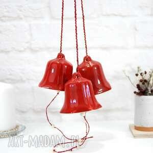 dekoracje duży ceramiczny dzwonek choinkowy - modern