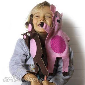filcowa pacynka świnka pola - maskotka do kreatywnej zabawy, pacynka, filc