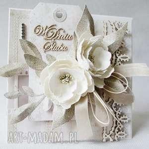Ślubna elegancja - w pudełku, życzenia, ślub, gratulacje, podziękowanie