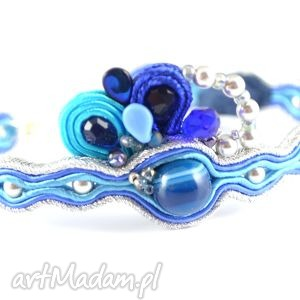 Delikatna niebieska bransoletka sutaszowa - ,casual,jeans,sutasz,soutache,daily,