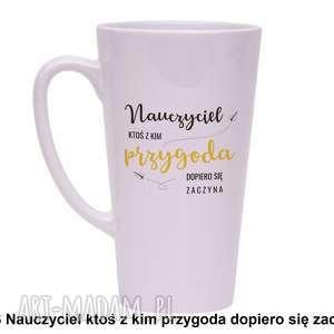 handmade kubki kubek latte nauczyciel ktoś z kim przygoda dopiero się zaczyna