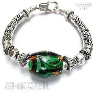 Szkło MURANO w pięknej i eleganckiej bransolecie hand made. EFEKTOWNY luksusuowy