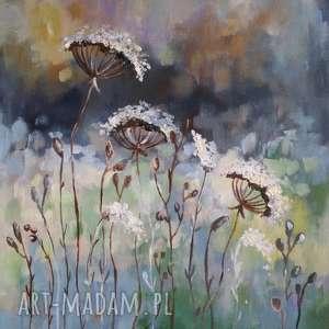 JESIENNA ŁĄKA -obraz akrylowy formatu 30/40cm, akryl, łąka, jesień,