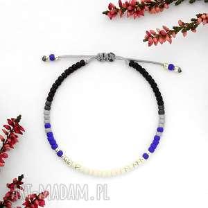 bransoletka minimal - autumn cobalt, minimalistyczna, unikalna, elegancka, modna