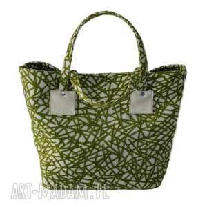 867bcaa92abd1 ... 37-0008 biało-zielona torebka shopper bag 3w1 / ekologiczna torba na  zakupy owl