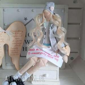 handmade lalki anioł pamiątka pierwszej komunii świętej