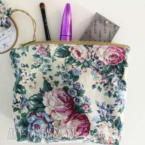 kosmetyczka organizer saszetka vintage kwiaty, kosmetyczka, organizer,