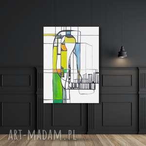 Świata widzenie nr 29, dom, malarstwo, sztuka, obraz, żółty, tusz