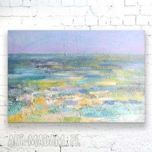 morze obraz olejny, ręcznie malowany na płótnie, abstrakcja nowoczesny