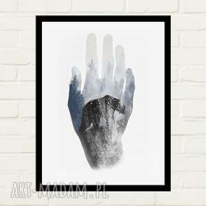 HAND BEAR Plakat 30x40, plakat